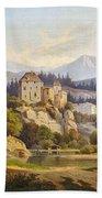 Lunde, Anders Christian Copenhagen 1809 - 1886 Grotta Ferrata. Oil On Canvas. Relined Hand Towel