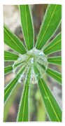 Lupine Leaf And Raindrop Bath Towel