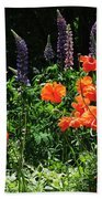 Lupines And Poppies Bath Towel