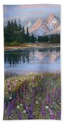 Lupines At Pilgrim Creek Bath Towel