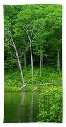 Lush Green Pond Bath Towel