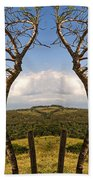 Lush Land Leafless Trees IIi Bath Towel
