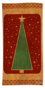 Luxurious Christmas Card Bath Towel