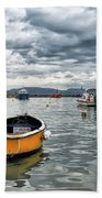 Lyme Regis Harbour - March Bath Towel