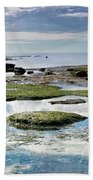 Lyme Regis Seascape 4 - October Bath Towel