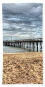 Lynnhaven Fishing Pier, Bay Side Bath Towel