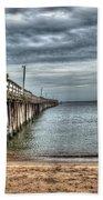 Lynnhaven Fishing Pier, Ocean Side Bath Towel