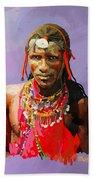 Maasai Moran Bath Towel