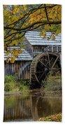 Mabry Mill In Fall 3 Bath Towel