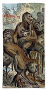 Macaques For Responsible Travel Bath Towel