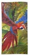 Macaw Parrot 3 Bath Towel