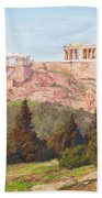 Macco, Georg 1863 Aachen - 1933   The Acropolis Of Athens. Hand Towel