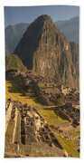Machu Picchu At Dawn Near Cuzco Peru Bath Towel
