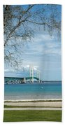 Mackinac Bridge Park Hand Towel