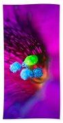 Macro Purple Flower Bath Towel
