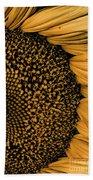 Macro Sunflower Bath Towel