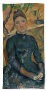 Madame Czanne Hortense Fiquet 18501922 In The Conservatory Bath Towel