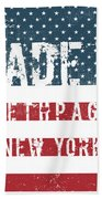 Made In Bethpage, New York Bath Towel