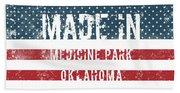 Made In Medicine Park, Oklahoma Hand Towel