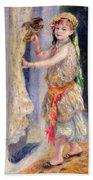 Mademoiselle Fleury In Algerian Costume Bath Towel