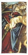 Madonna And Child And The Young St John The Baptist 1495 Hand Towel
