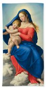 Madonna And Child In Glory Bath Towel