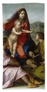 Madonna Della Scala. Virgin Of The Stairs Bath Towel