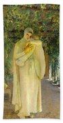 Madonna Of The Arbor Bath Towel
