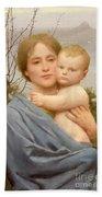Madonna Of The Mount  Bath Towel