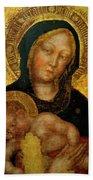 Madonna With Child Gentile Da Fabriano 1405 Bath Towel