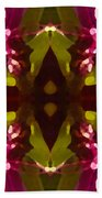 Magent Crystal Flower Hand Towel