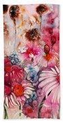 Magenta May Flowers Bath Towel