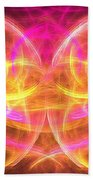 Magenta Moth Bath Towel