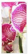 Magenta Orchids Bath Towel