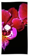 Magenta Phaleonopsis Orchid Bath Towel