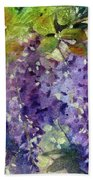 Magic In Purples And Greens Hand Towel