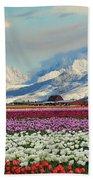 Magic Landscape 1 - Tulips Hand Towel