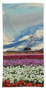 Magic Landscape 1 - Tulips Bath Towel