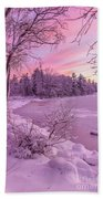 Magical Sunset After Snow Storm 1 Bath Towel
