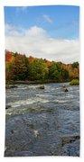 Magnetawan River In Fall Bath Towel