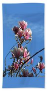 Magnolias And Blue Skies - Springtime In The Valley Bath Towel