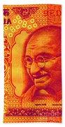Mahatma Gandhi 500 Rupees Banknote Bath Towel