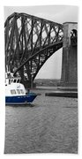 Maid Of The Forth In Blue. Bath Towel