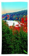 Maine Long Pond Acadia  Bath Towel