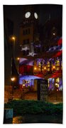 Main Street Station At Night Bath Towel