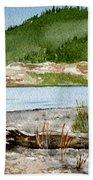 Maine Beach Wood Bath Towel