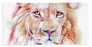 Majestic African Lion Bath Towel
