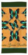 Majestic Green Swallowtail Wheel Bath Towel