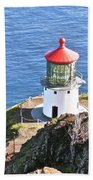 Makapuu Lighthouse 1065 Bath Towel