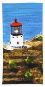 Makapuu Lighthouse #78, Hand Towel